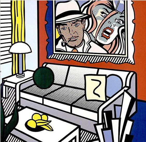 Roy Lichtenstein, série Interior, début des années 90.