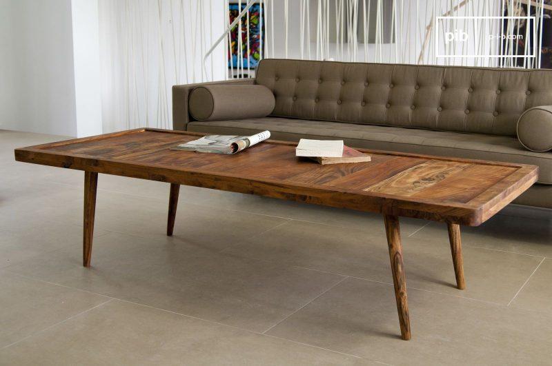 Table basse Stockholm chez pib. Une grande table élégante de salon à l'esprit fifties. Un produit 100% bois.