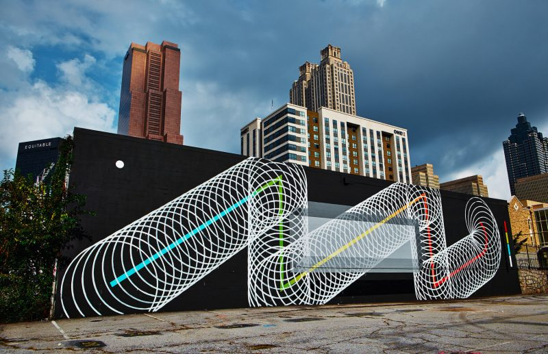 Christopher Derek Bruno, fresque murale, Atlanta (USA)