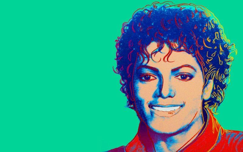 Portrait de Michael Jackson peint par Andy Warhol en 1984.