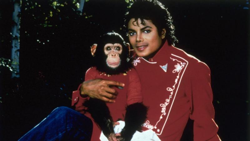 Michael Jackson et son singe Bubbles