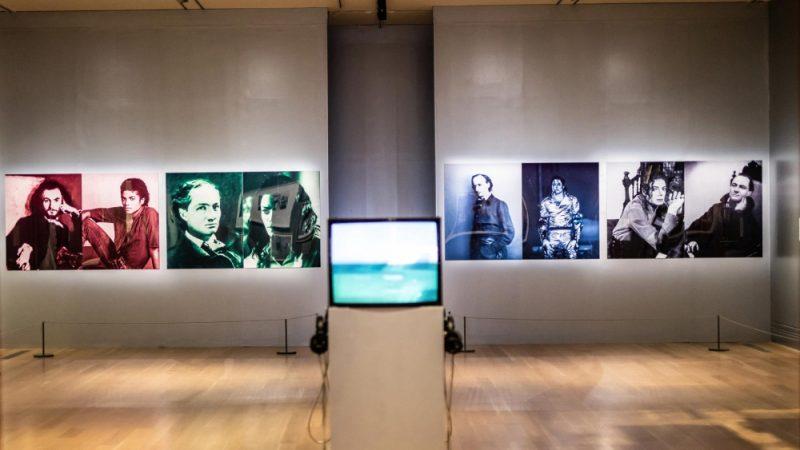 Vue de l'exposition Michael Jackson: On The Wall, à la National Portrait Gallery de Londres (2018).