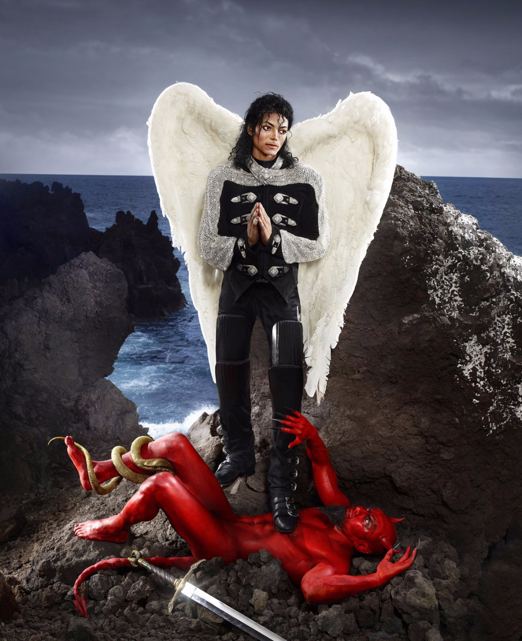 David LaChapelle, Archangel Michael : And No Message Could have Been Any Clearer, Hawaii , 2009.