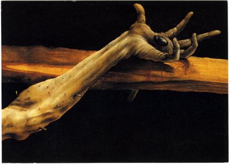 Retable d'Issenheim, détail de la crucifixion, main