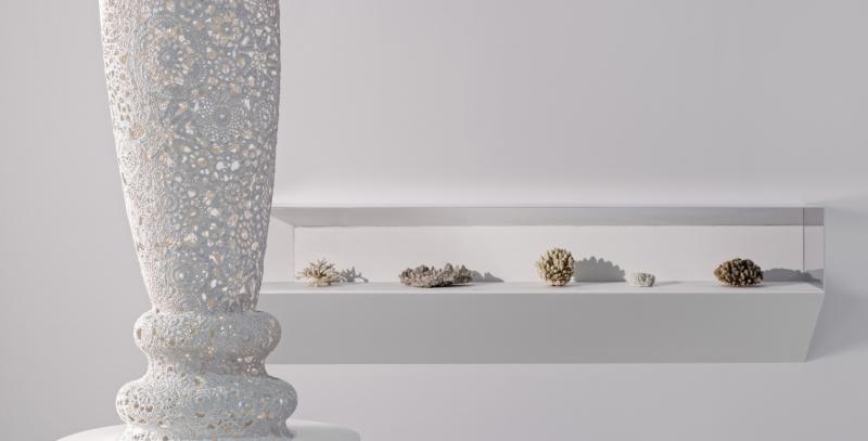 Vue l'exposition Design et merveilleux. Minéraux. Photo : B. Adilon