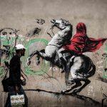 Graffiti de Banksy à Paris dénonçant la crise migratoire en Europe