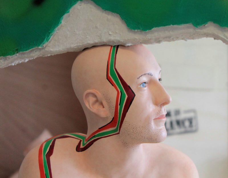 L'une des dernières sculptures réalisées pour l'exposition.