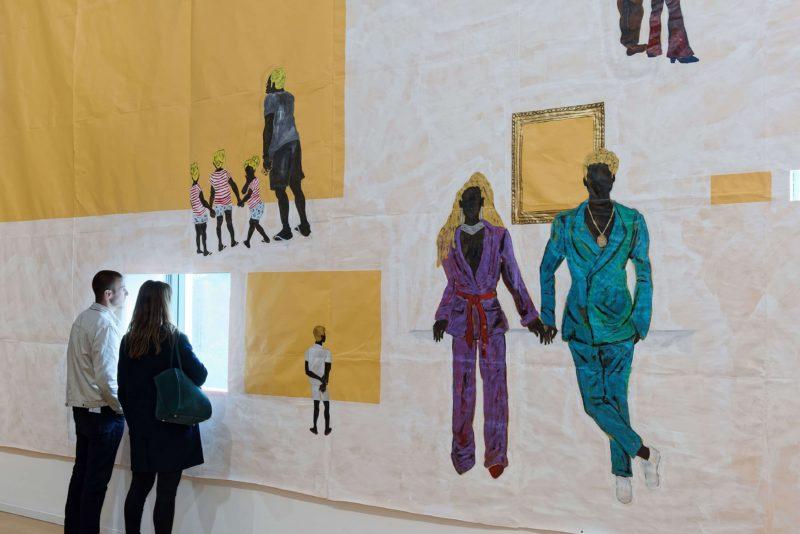 """Exposition """"Pardo é Papel"""" au MAC Lyon. Peinture de Maxwell Allexandre représentant Béyoncé et Jay-Z"""