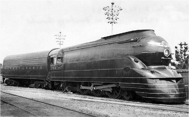 L'incroyable design de la locomotive S1 réalisé par Raymond Loewy en 1939. Une face avant fuselée.