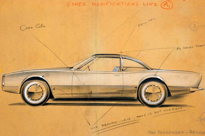 Raymond Loewy, avant-concept, croquis. Image source : http://indexgrafik.fr