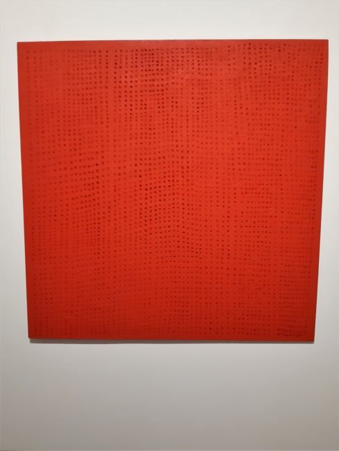 Monochrome Rouge A5 (en bois sculpté) de Bernard Aubertin (1962-1977)