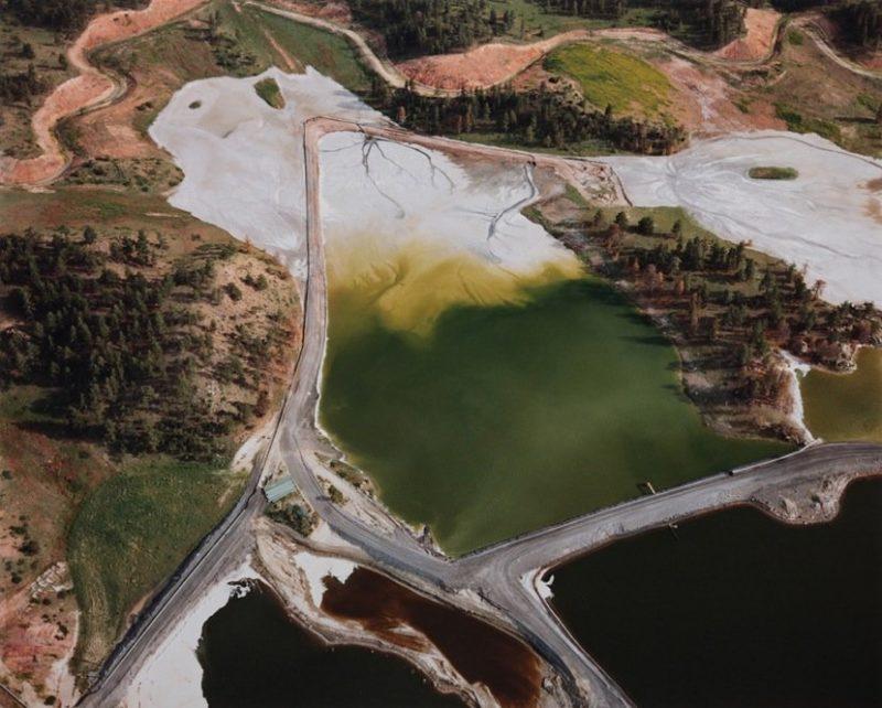 Bassins de récupération et bassins d'évaporation, 1984. Photographie de David T. Hanson