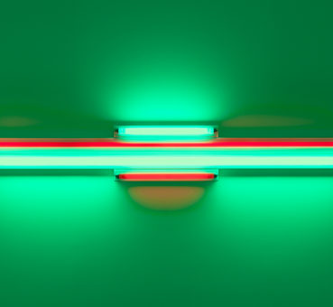 Dan Flavin, Red and green alternatives (to Sonja),