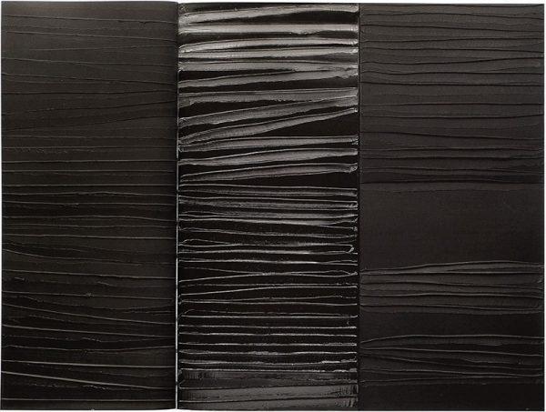 Peinture acrylique sur toile, triptyque de Pierre Soulages