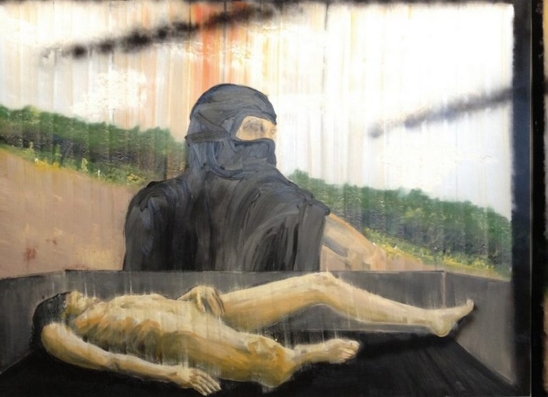 Stéphane Pencréac'h, Tombouctou, 2012. Peinture centrale