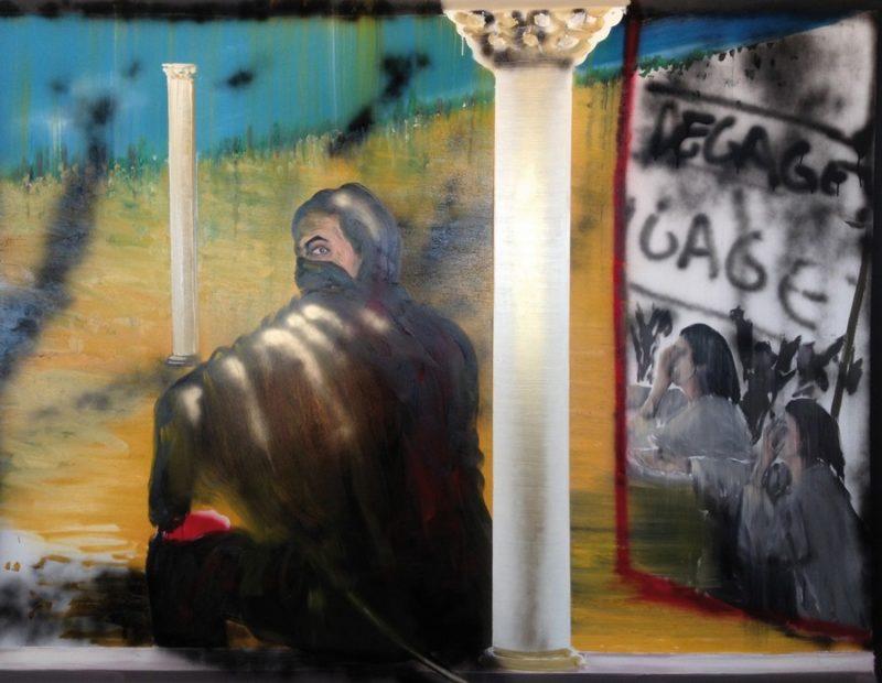 Stéphane Pencréac'h, Tunis, peinture de droite, 2013