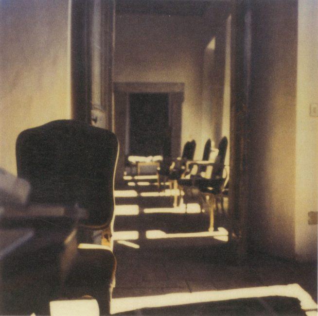 Cy Twombly, photo polaroid, intérieur