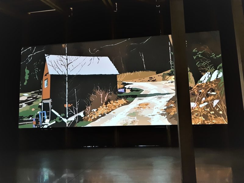 Projection de la vidéo du projet d'Alain Bublex : Un paysage américain, 2019