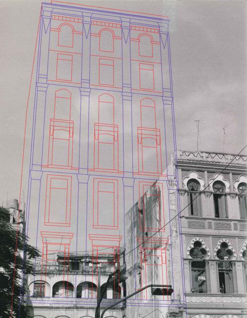 La photographie d'art au MoMA : 1999-2008. Photographie en noir et blanc de Carlos Garaicoa, bâtiment de La Havane,