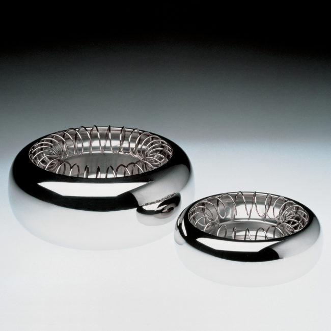 Cendriers Spirale, design Achille Castiglioni pour Alessi, 1986