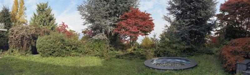 Fountain Study, Late Fall; Cedrus atlantica, Acer palmatum, Populus nigra, 2004, série Gardens