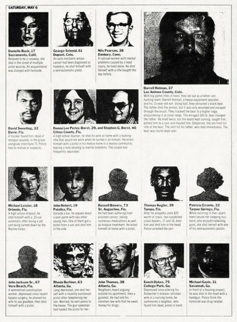 Felix Gonzalez-Torres, « Untitled » (Death by Gun), 1990