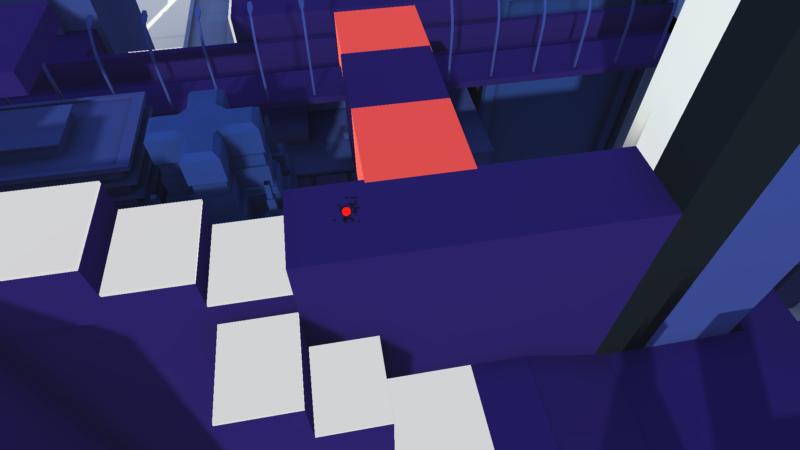 Vue du jeu Prisme 7, le 1er jeu vidéo du Centre Pompidou
