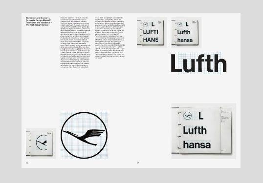 Otl Aicher, travail sur l'identité visuelle pour Lufthansa avec la participation de ces étudiants, École d'Ulm, 1963.