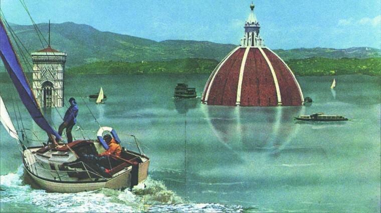 Photomontage de Florence, Superstudio, 1972