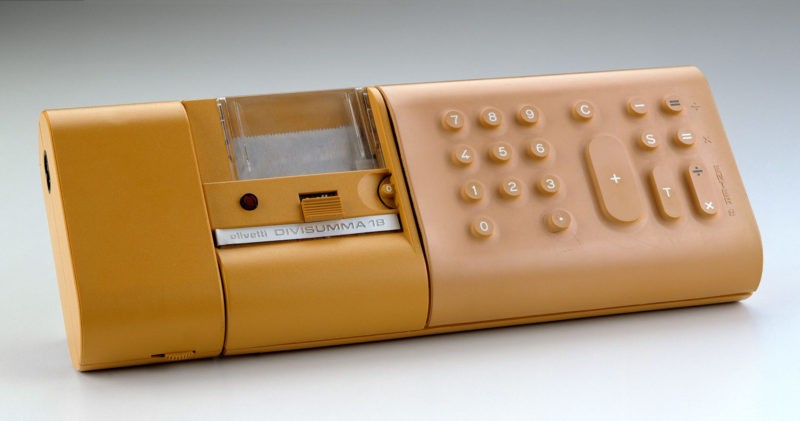Calculatrice électronique Divisumma 18, design Mario Bellini pour Olivetti, 1972