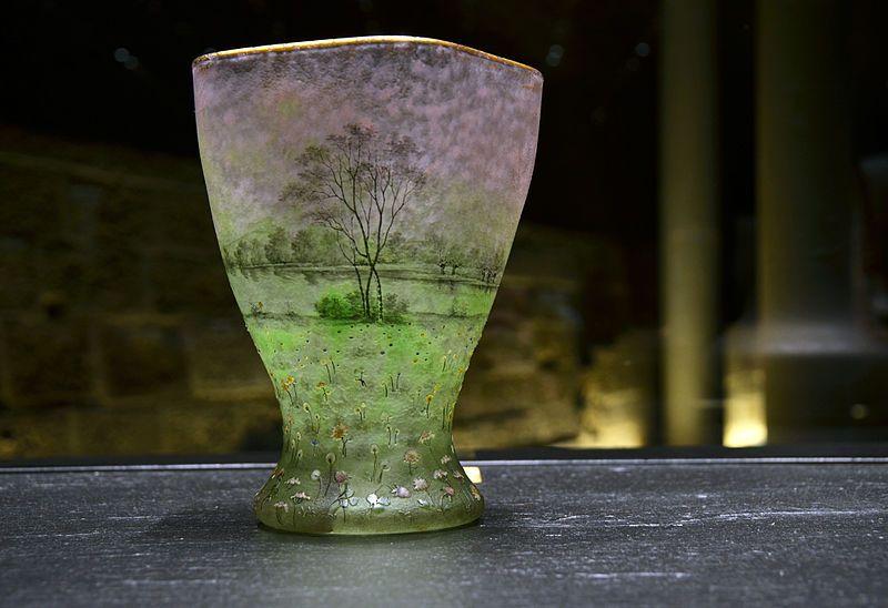 Daum, vase prairial, 1892