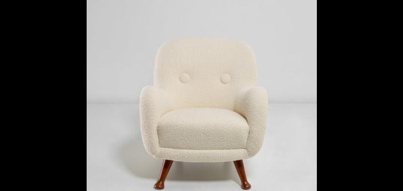 Vente aux enchères Nordic Design chez Phillips Auctions, fauteuil attribué à Berga Möbler, 1940-1950.