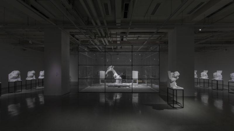 Solo show de Quayola - Vue de l'exposition Asymmetric Archaeology / Gazing Machines, travail : Sculpture Factory