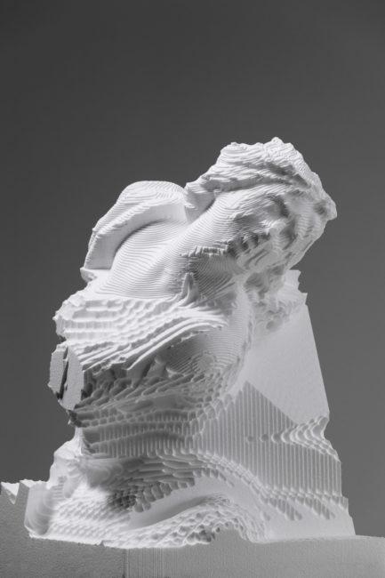 Quayola, Sculpture Factory : Pluton et Proserpine, détail d'une statue inachevée. Photo issue du site web de l'artiste