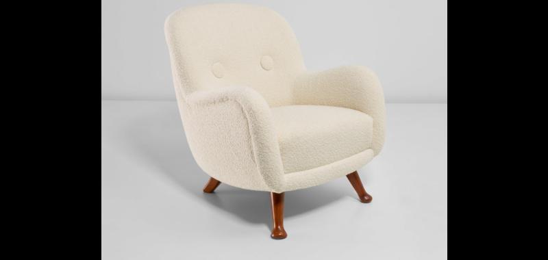 Vente aux enchères Nordic Design chez Phillips Auctions, fauteuil attribué à Berga Möbler, 1940-1950. Fabrication Berga Möbler, Suède