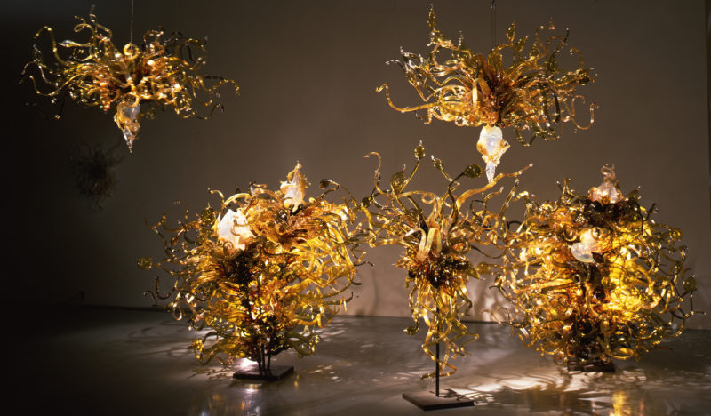 Dale Chihuly, Laguna Murano Chandelier, chandeliers en verre de Murano, 1996-1997