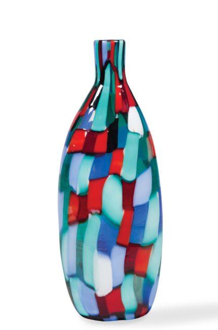 Bouteille en verre de Murano série Pezzati Arlecchino, design Fulvio Bianconi pour Venini, vers 1951