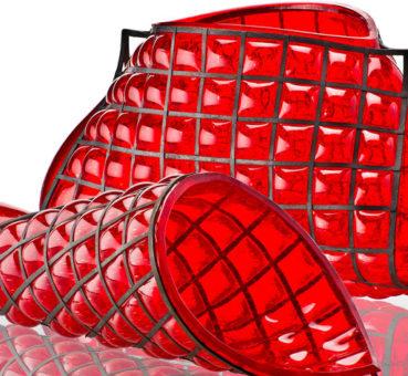 : Sculptures Ritorto & Torto en verre de Murano, Design Gae Aulenti pour Venini, 1994.